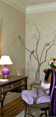 20 Wall Murals Changing Modern Interior Design with Spectacular Wall Painting Ideas - Wonderful Wallpapers! Modern Interior Design, Modern Decor, Luxury Interior, Modern Wall, Modern Bedroom, South Shore Decorating, Chinoiserie Wallpaper, Home And Deco, Wall Murals