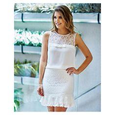 All white maravilhoso! @arianecanovas arrasando com suas escolhas aqui na Unique Chic ❤️ #beUniqueChic #arianenaUniqueChic