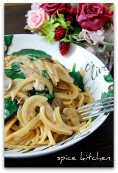 「ポルチーニ茸のクリームパスタ」のレシピ by バリ猫さん | 料理レシピブログサイト タベラッテ