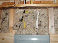 Using Natural Wool Insulation! « Built By Friends: Evan & Gabby's Tiny House Wool Insulation, Urban Farmer, Slow Food, Building Materials, Sheep, Tiny House, Harvest, Bucket, Walls