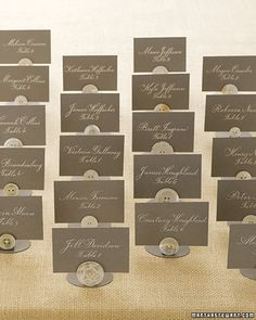 DIY button seating cards