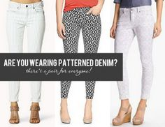 Whether you're a bold dresser, or totally timid, there is a pair of patterned jeans for you. 9 Pairs of Patterned Denim.