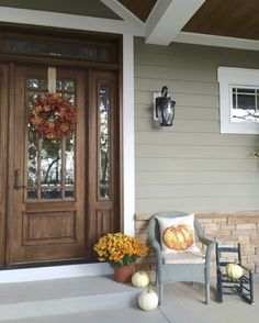 We love how @armhouseredefined is welcoming her autumn visitors with an assortment of pumpkins, flowers and our Painted Pumpkin Pillow! 🍂🎃🍁 How are you styling your front door? Show us your chic stoop & tag #MyPotteryBarn for a chance to win a $100 PB gift card! #fallfrontdoor #contest #giveaway