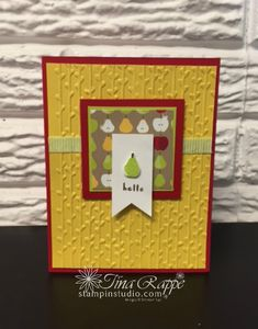 Stampin' Up! Fruit Basket stamp set, Stampin' Studio