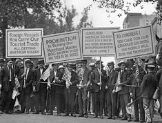 A protest against Prohibition in New York.