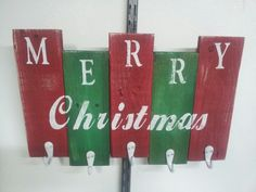 stocking holder made with scrap pallet wood