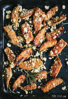 Crispy Sweet Potato Wedges #glutenfree #vegan #thanksgiving