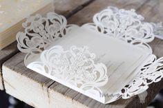 Wedding Stationery Designs Elegant DIY laser cut wedding invitation
