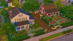 jenba-sims - Aunt Jo's Farm was once an impressive acreage but.You can find Sims 3 and more on our website.jenba-sims - Aunt Jo's Farm was once an impressive acreage but. Sims 2 House, Sims 4 House Plans, Sims 4 House Building, Sims 4 House Design, Sims 3 Houses Ideas, Sims Ideas, Sims 4 Houses Layout, Casas The Sims 3, Muebles Sims 4 Cc