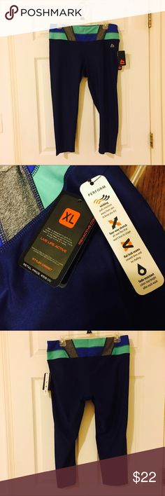BRAND NEW rbx athletic capri pants NEW WITH TAGS RBX athletic capri pants. SUPER stretchy and comfortable. brand new. RBX Pants Track Pants & Joggers