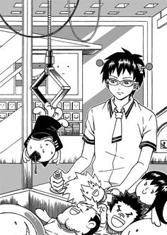 Uploaded by MIKA. Find images and videos about manga, monochrome and saiki k on We Heart It - the app to get lost in what you love. Manga K, Poster Anime, K Wallpaper, Manga Collection, Manga Covers, Blue Exorcist, Manga Illustration, Manga Pictures, Animes Wallpapers