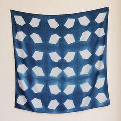 Shibori, indigo dyed, on Etsy