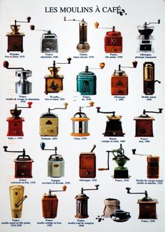 Les Moulins à Café - Coffee Grinder - Ideas of Coffee Grinder - .old time coffee grinders.if anyone runs across one of these items please let me know Coffee Art, Coffee Poster, I Love Coffee, Best Coffee, Coffee Mugs, Coffee Icon, Coffee Scrub, Starbucks Coffee, Coffee Lovers