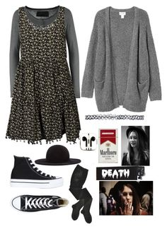 """""""~×Violet Harmon Style×~"""" by xthiananovax ❤ liked on Polyvore featuring True Religion, NOVA, Monki, Converse, PhunkeeTree, HYD, Kiki de Montparnasse and Wet Seal"""