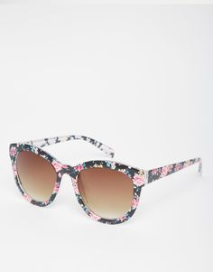 51e07140cfab A. J. Morgan Aj Morgan Floral Print Sunglasses - ShopStyle