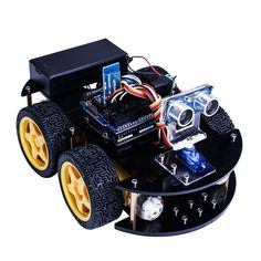 Intelligent Car Learning Suite Wireless Control Based For Arduino Robot Car Assembly Kit with CD and Educational Toy Car for Kid