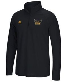 adidas Men's Kennesaw State Owls Ultimate Quarter-Zip Pullover - Black L