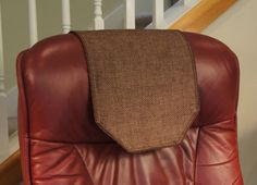 Chair Headrest Cover Best Back Pain 23 Covers Images Power Recliner Chairs Chocolate Burlap By Chairflair Couch