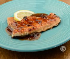 Pomegranate Chipotle Grilled Salmon - Salmon smothered with our sweet and spicy Pomegranate Chipotle Sauce.