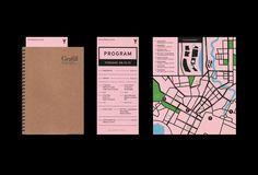 the 2015 Visuelt Festival Ludvig Bruneau Rossow used GT Cinetype. Graphic Design Print, Map Design, Graphic Design Illustration, Graphic Design Inspiration, Book Design, Work Inspiration, Design Concepts, Cover Design, Brochure Layout