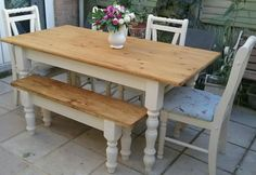 4ft x 3ft solid pine small kitchen table farmhouse table ideas