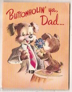 Buttonholin' Vintage Father's Day Card