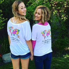 Moms weekend shirt It wouldnt be my world without you in it  Alpha Phi sorority shirt -Designed by Idaho Alpha Phi