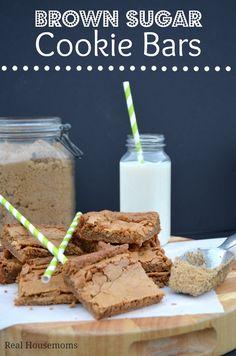 Brown Sugar Cookie Bars | Real Housemoms #dessert #cookiebar