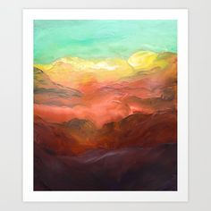 Out of the mist Art Print by Taylor Bernard Art - X-Small From The Ground Up, Buy Frames, Printing Process, Mists, Gallery Wall, Art Prints, Artist, Artwork, Painting