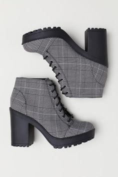 57e444f407e Platform Ankle Boots. HoundstoothBlack BootsSoleHeelsPlatform Ankle BootsBlack  WomenHigh ...