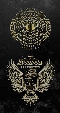 Colorado Brewers Rendezvous Logos by Jared Jacob of Sunday Lounge Logo Inspiration, Typographie Inspiration, Typography Logo, Typography Design, Lettering, Brand Identity Design, Branding Design, Wm Logo, Logo Luxury