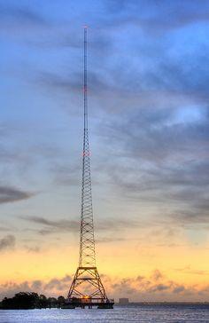 Radio Tower Sunrise by Photomatt28, via Flickr  St Petersburg, Florida