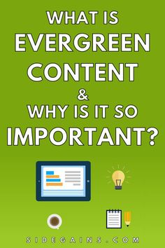 Have you heard of evergreen content? Evergreen content is something you'll need to understand in order to make your blog permanently relevant to your visitors and to search engines. Evergreen content increases the shelf life of your posts so it's vital you understand what it is and how to produce it. Find out everything you need to know about content that remains evergreen and why it's so important for SEO. Content Marketing Strategy, Marketing Ideas, Blog Writing Tips, Marketing Calendar, Shelf Life, Seo Tips, Social Media Content, Evergreen, Blogging