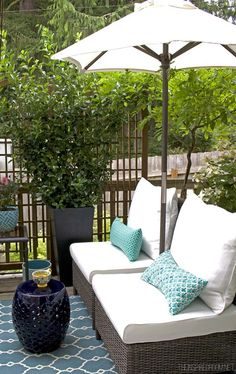 Today I'm sharing my small backyard deck makeover on the blog! It's been through many phases of small updates over the years and I'm loving how cozy it feels now!
