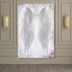 Angel Wings Painting, Angel Wings Wall Decor, Angel Decor, Angel Art, Canvas Art Prints, Canvas Wall Art, Fine Art Prints, Diy Canvas, Crystal Room Decor