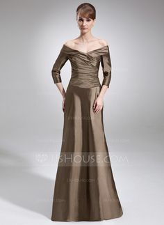 Mother of the Bride Dresses - $138.99 - A-Line/Princess Off-the-Shoulder Sweep Train Taffeta Mother of the Bride Dress With Ruffle (008006211) http://jjshouse.com/A-Line-Princess-Off-The-Shoulder-Sweep-Train-Taffeta-Mother-Of-The-Bride-Dress-With-Ruffle-008006211-g6211?snsref=pt&utm_content=pt