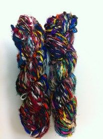 Two Skeins of Stained Glass Yarn #giveaway