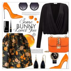 """""""Some bunny loves you ♥"""" by teryblueberry ❤ liked on Polyvore featuring Hermès, MSGM, Samsøe & Samsøe, Casadei, Alice + Olivia, Valentino, Chanel, Christian Louboutin, 1928 and Topshop"""