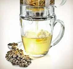 decaffeinate tea by steeping for 20 seconds, draining and re-steeping.