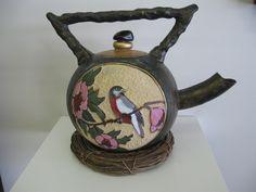 Asian gourd teapot