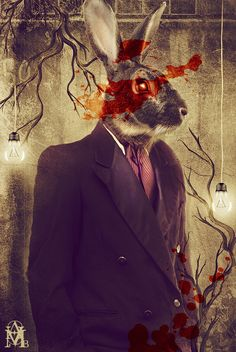 Rabbit man called:  Perseverence by IIMadhoshiII by way of deviantart.