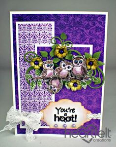 Heartfelt Creations | Owl Family Hanging Out