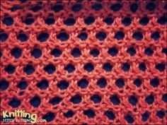 Open Honeycomb stitch is very simple stitch that is quick to knit and is great for beginning knitters. This stitch is a 4 row repeat and is knitted in a multiple of 2 sts + Easy Scarf Knitting Patterns, Knitting Basics, Knitting Stiches, Knitting Videos, Arm Knitting, Crochet Stitches, Knit Crochet, Loom Knit, Knit Lace