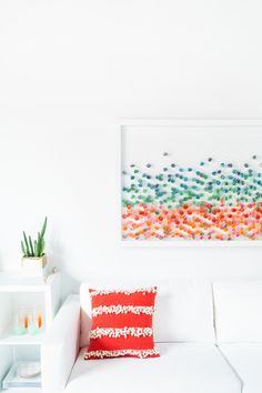 This has inspired me!  Every day or when you feel truly blessed by God?  Write down His blessing and at the end of a year look at the beautiful collage of blessings! write DIY // Paper Wall Art