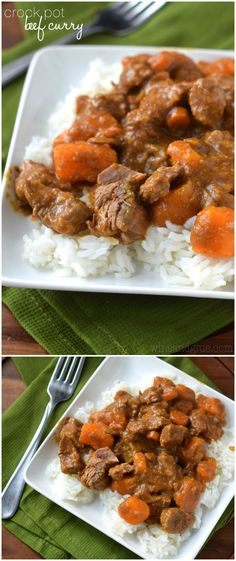 This Crock Pot Beef Curry is such a perfect weeknight meal, take out taste, but crazy easy! (Beef Recipes For Crock Pot) Slow Cooker Beef Curry, Crock Pot Slow Cooker, Crock Pot Cooking, Slow Cooker Recipes, Crockpot Recipes, Cooking Recipes, Slower Cooker, Crockpot Dishes, Beef Dishes