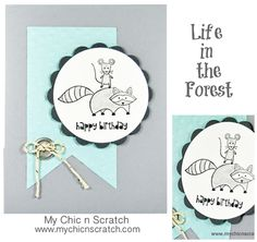 Life in the Forest Birthday Card http://www.mychicnscratch.com/2014/01/life-in-the-forest-birthday-card.html