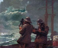 off Hand made oil painting reproduction of Eight Bells, one of the most famous paintings by Winslow Homer. Winslow Homer concluded the monumental marine painting entitled Eight Bells in one of his best-known works. Art Gallery, American Art, Winslow Homer, Artist, Painting, Maritime Art, Oil Painting, Winslow Homer Paintings, Art History