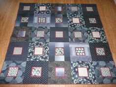 Fabrics purchased in Japan. Made the quilt in large blocks to show off the prints. Japanese Yukata, Japanese Quilts, Japanese Textiles, Japanese Fabric, Quilting Ideas, Quilting Designs, Quilt Patterns, Blue Jean Quilts, Asian Quilts