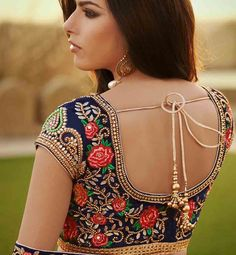 modern choli back designs - Google Search