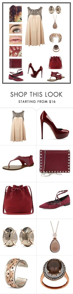 """""""Untitled # 218"""" by binasa87 ❤ liked on Polyvore featuring Miss Selfridge, Sergio Rossi, Bamboo, Valentino, Mansur Gavriel, Rebecca Minkoff, Melissa Joy Manning, Lord & Taylor, Tod's and OPI"""